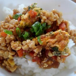 鶏そぼろ納豆ご飯