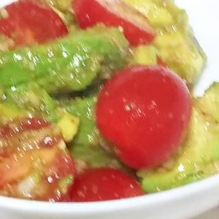 簡単一品!アボカドとトマトの中華和え