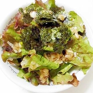 サニーレタスと海苔の ねぎ塩サラダ