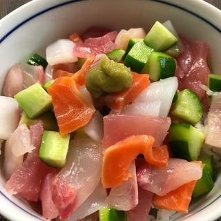 サイコロ海鮮丼