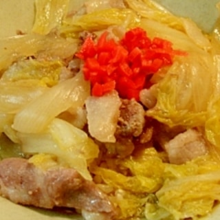 白菜入り豚丼