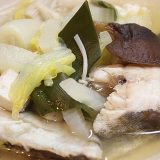 生鱈と白菜、椎茸の煮物