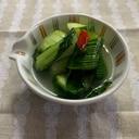 きゅうりと青梗菜の水キムチ