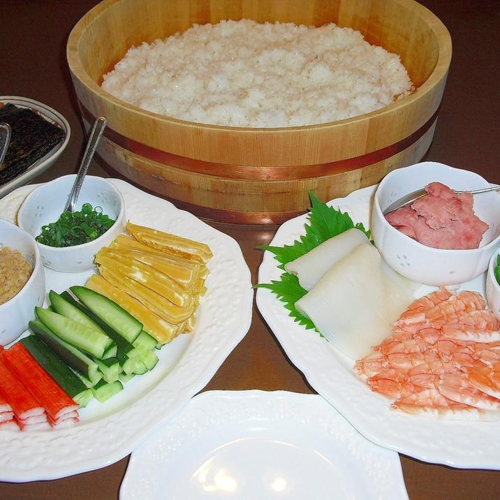 """子供が喜ぶ♪我が家の""""手巻き寿司"""""""