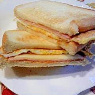 超☆簡単朝食サンドイッチ★パパッとできる