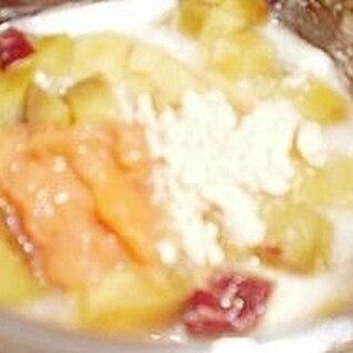 柿ジャムのさつま芋ヨーグルト