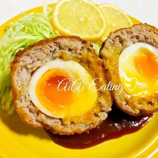 ♡半熟卵がとろ〜り♪お洒落な夕食にスコッチエッグ♡