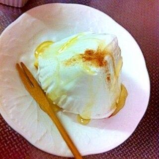 水切りヨーグルト使用☆レアチーズケーキ風^^