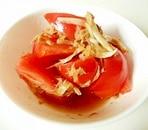 ツナとトマトの中華和え