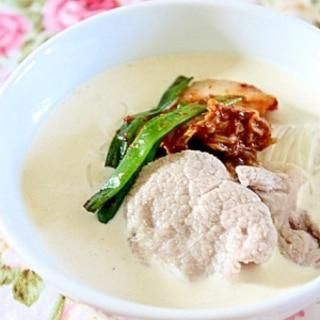 夏バテ予防に☆クリーミー豆乳豚キムチ素麺