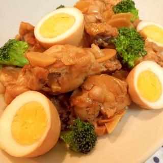 鶏手羽と玉子のさっぱり煮♪