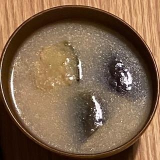 作り置き!冷凍なすの味噌汁
