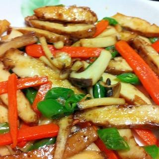 燻製豆腐と青唐辛子のピリ辛炒め