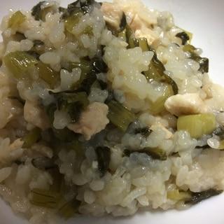 鶏肉と小松菜の炊き込みご飯
