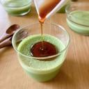 緑萌ゆ☆青汁と豆乳のムースプリン