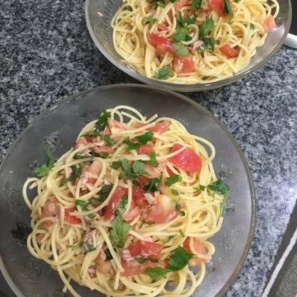 水菜の代わりに大葉を使って作ってみました! とっても簡単でおもてなし前菜にもぴったりでした。