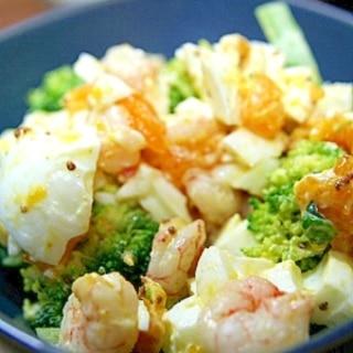 ♪ブロッコリーえびゆで卵のサラダ♪