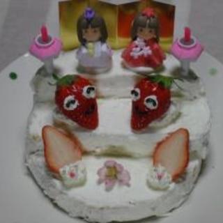 ひな壇のケーキ