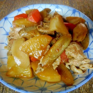 豚肉と根菜の筑前煮風