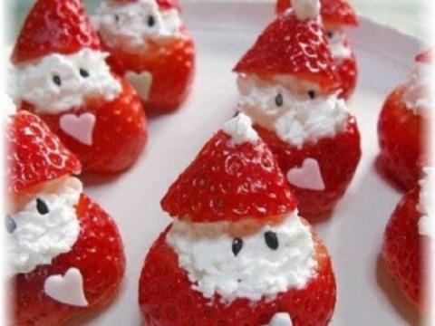 ★☆可愛いいちごのサンタ・クリスマスケーキに☆★
