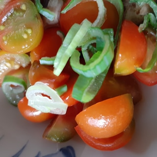 トマトとネギの和え物