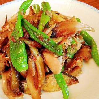 甘長ピーマンと茄子、舞茸の炒め煮