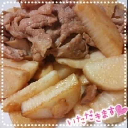 長芋の炒めものは初めてです。サクサクして味もよく絡んで美味しかったです(*´ω`*)ごちそうさまでした*