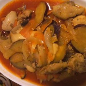 ピリッが効いた鶏肉とさつまいものタッカルビ