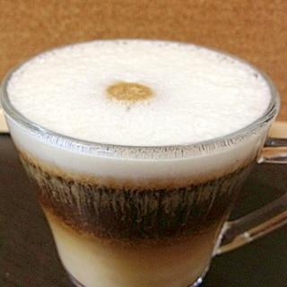 バリスタで☆豆乳とアーモンドプードルのカプチーノ❤