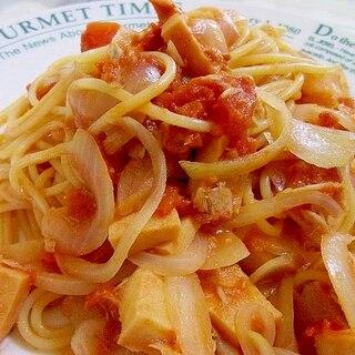 ツナと高野豆腐のトマトスパゲティ
