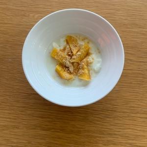 素朴なおやつ~さつま芋ときな粉ヨーグルト