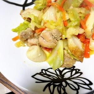 塩麹で野菜炒め