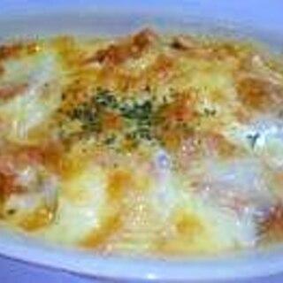 お豆腐のキムチーズグラタン