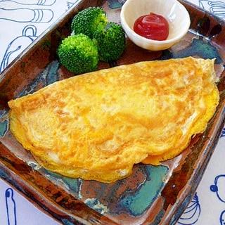 節約!卵1個で♪簡単☆チーズオムレツ