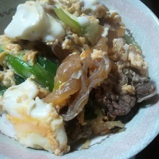 すき焼き風丼