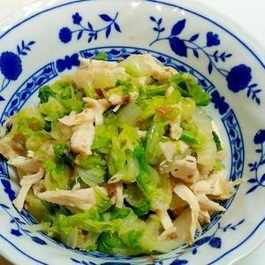 レンジで白菜大量消費☆白菜と鶏ささみのホットサラダ