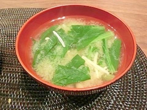 えのきと小松菜のお味噌汁