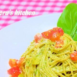 冷製スパゲッティのジェノヴェーゼ(バジルソース)