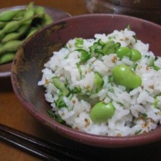 夏まぜご飯②&茹で枝豆