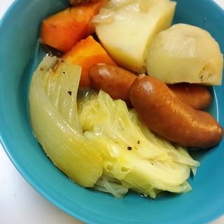下ごしらえをレンチンで時短☆お野菜たっぷりポトフ