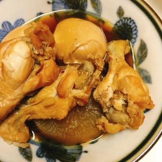 大根と手羽元と卵の煮物
