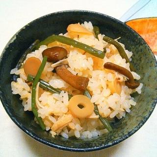 めちゃ簡単!!優しいお味のえのき入り山菜ごはん♡