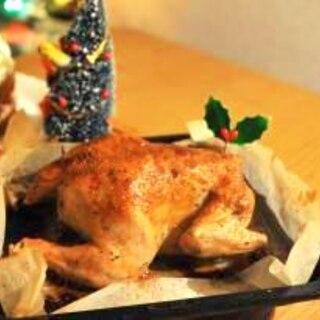 皮パリパリジューシーなごちそう丸鶏