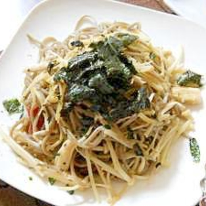蕎麦ペペロンチーノ
