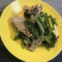 菜の花と豚肉の炒め物♡