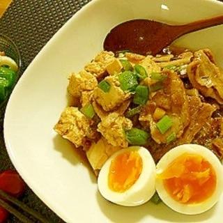 すじこん簡単アレンジ☆ピリ辛肉豆腐♪