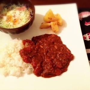 トマト缶とシーチキンで★時短カレー