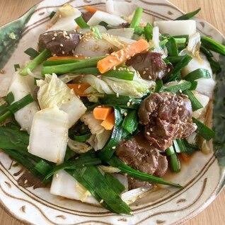市販の鶏レバーで簡単☆野菜たっぷりレバニラ炒め