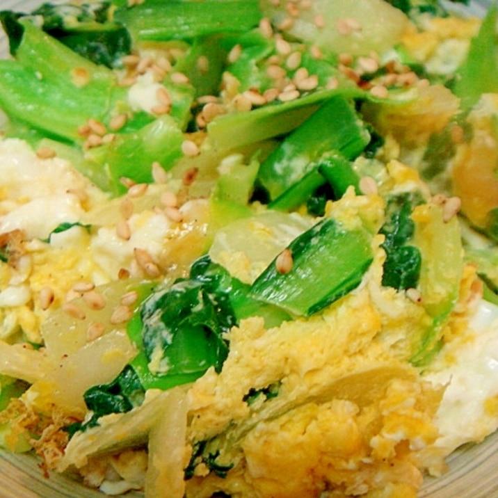 野菜と卵のシンプル胡麻風味炒め