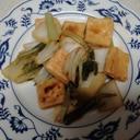 高野豆腐と白菜、小松菜の甘酢炒め